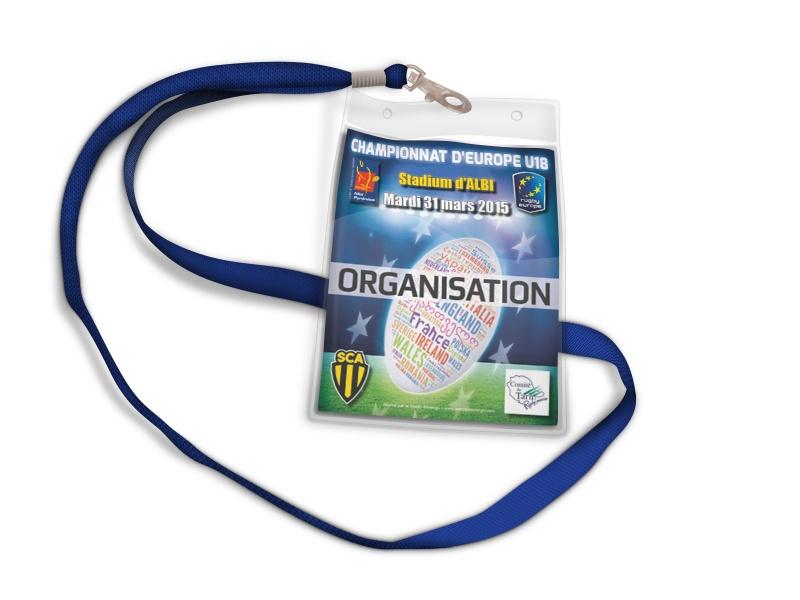 Badge d'accréditation pour l'entrée aux matchs du championnat d'Europe U18