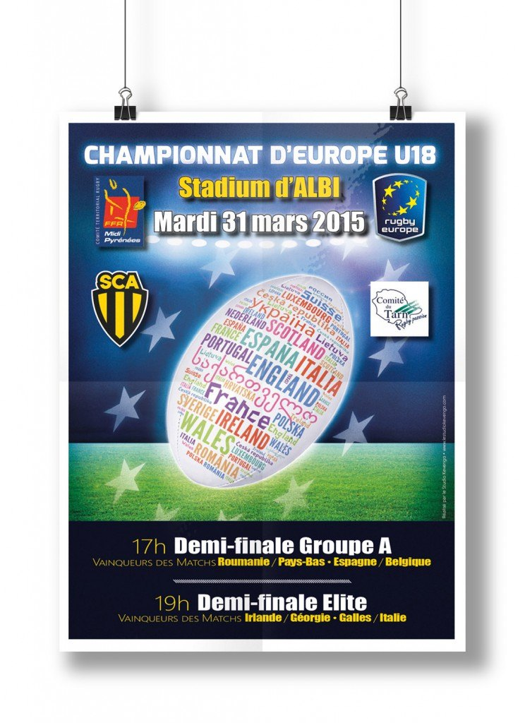 Affiche pour les demi-finales du Championnat d'Europe U18
