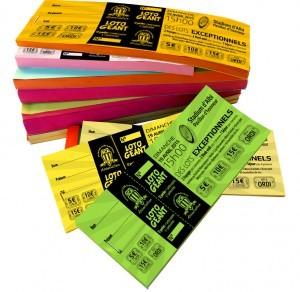 Tickets de tombola pour le Loto Géant du SCA.